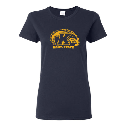 Kent State University Golden Flashes Primary Logo Womens Short Sleeve T Shirt - Navy