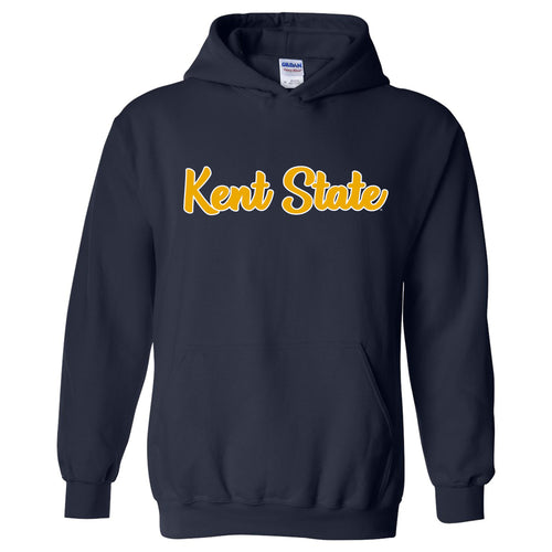 Kent State University Golden Flashes Basic Script Heavy Blend Hoodie - Navy