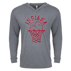 IU Retro Bball Hoop LS Hood - Deep Heather