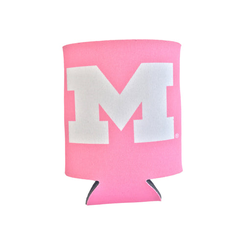 Block M University of Michigan Can Hugger – Pink