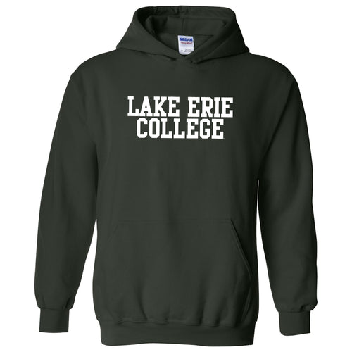 Lake Erie College Storm Basic Block Heavy Blend Hoodie - Forest