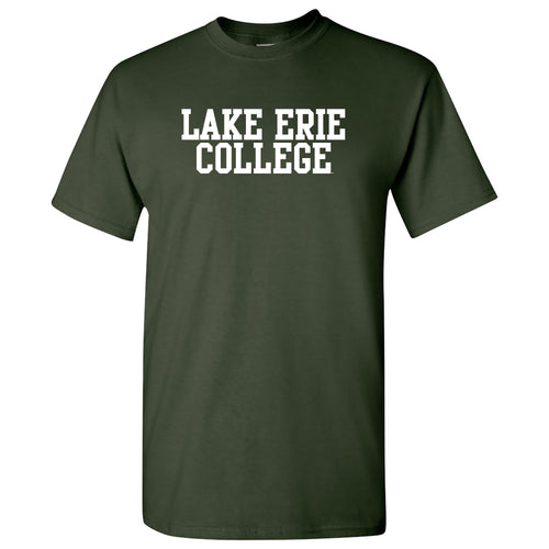 Lake Erie College Storm Basic Block Short Sleeve T Shirt - Forest