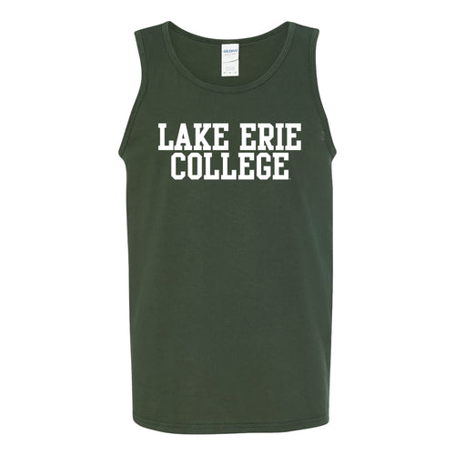 Lake Erie College Storm Basic Block Tank Top - Forest