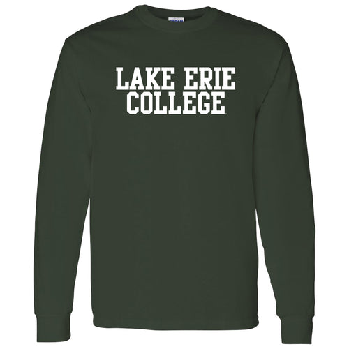 Lake Erie College Storm Basic Block Long Sleeve T Shirt - Forest