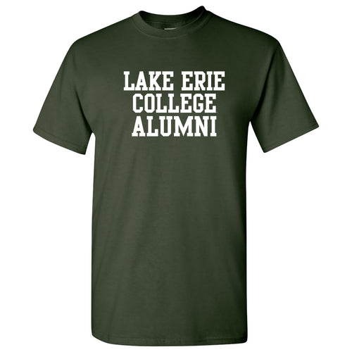 Lake Erie College Storm Alumni Basic Block Short Sleeve T Shirt - Forest