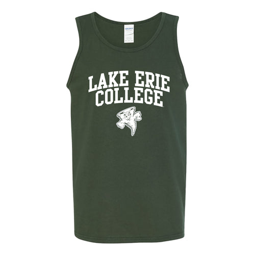 Lake Erie College Storm Arch Logo Tank Top - Forest