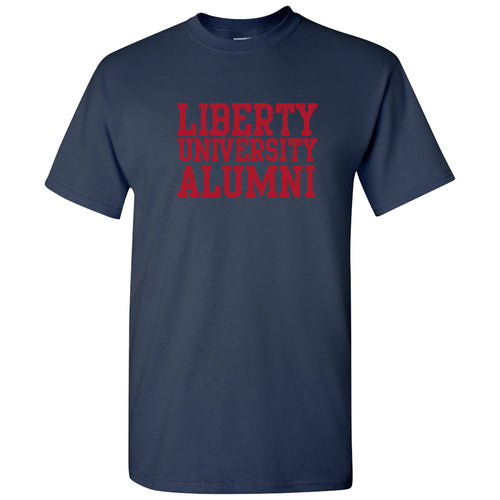 Liberty University Flames Alumni Basic Block T Shirt - Navy