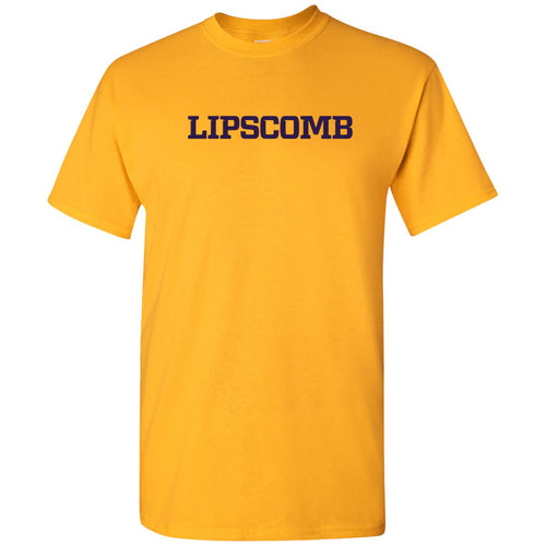 Lipscomb University Bisons Basic Block Short Sleeve T Shirt - Gold