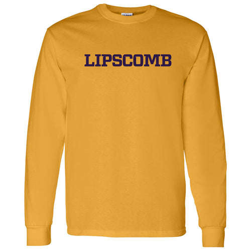 Lipscomb University Bisons Basic Block Long Sleeve T Shirt - Gold