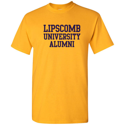 Lipscomb University Bisons Alumni Basic Block Short Sleeve T Shirt - Gold