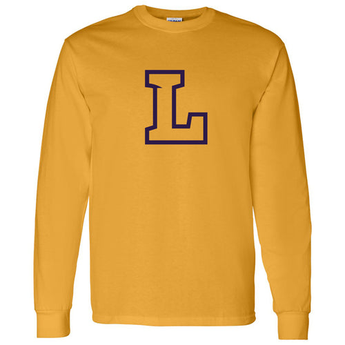 Lipscomb University Bisons Primary Logo Long Sleeve T Shirt - Gold