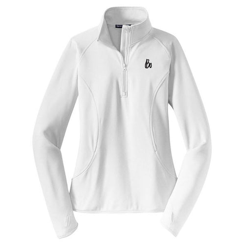 Bo Sig Wms Stretch 1/4 Zip - White