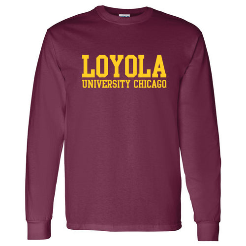 Loyola Chicago Basic Block Long Sleeve - Maroon