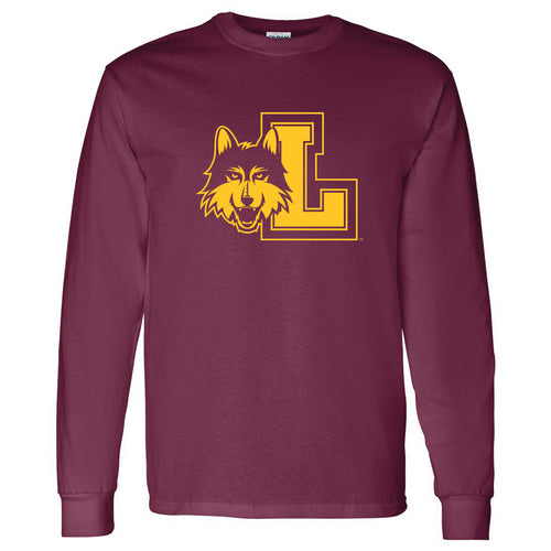 Loyola University Chicago Rambler Logo Long Sleeve T Shirt - Maroon
