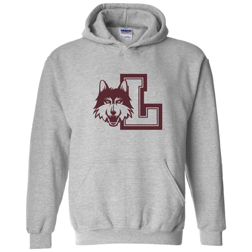Loyola University Chicago Rambler Logo Hoodie - Sport Grey