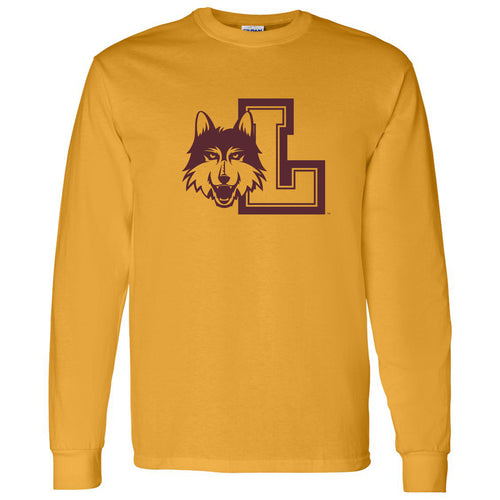 Loyola University Chicago Rambler Logo Long Sleeve T Shirt - Gold