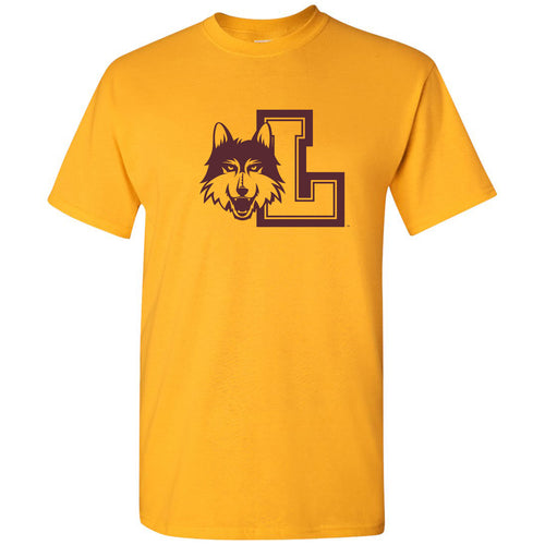 Loyola University Chicago Ramblers Logo Short Sleeve T Shirt - Gold