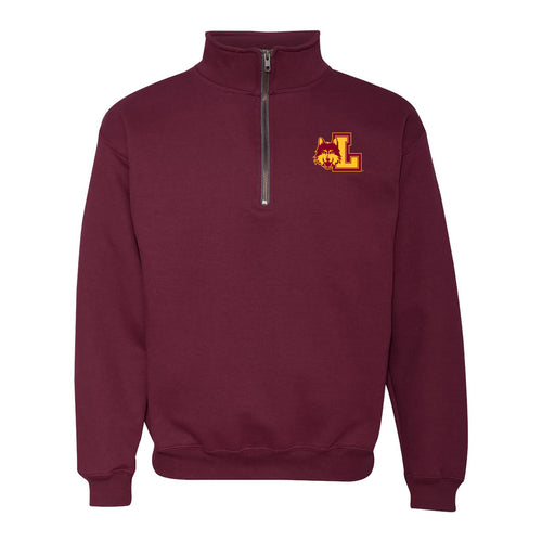 Loyola University Chicago Rambler Left Chest Logo Quarter Zip - Maroon