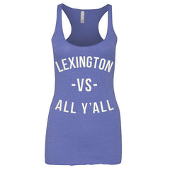 Lexington Vs All Y'all Racerback Tank - Royal