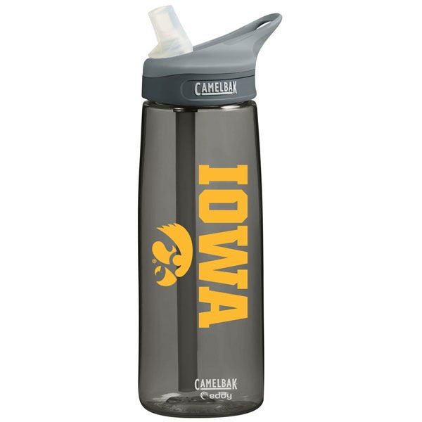 Iowa Camelbak .75L Bottle - Charcoal