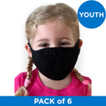 Next Level Apparel YOUTH (Ages 3-11) Eco Face Mask - Black