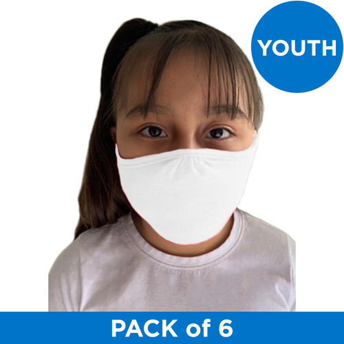 Next Level Apparel YOUTH (Ages 3-11) Eco Face Mask - White