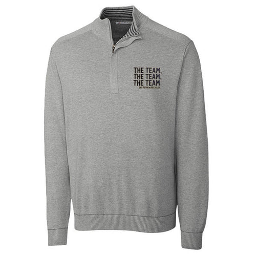 Bo TTT Cutter & Buck Broadview 1/2 Zip - Grey