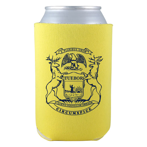 MI State Flag Can Cooler - Yellow