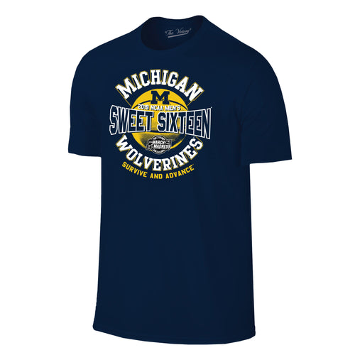 Michigan Basketball 2019 Sweet 16 T Shirt  - Navy