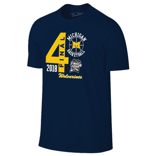 Michigan Basketball 2018 Final Four Big T-Shirt  - Navy