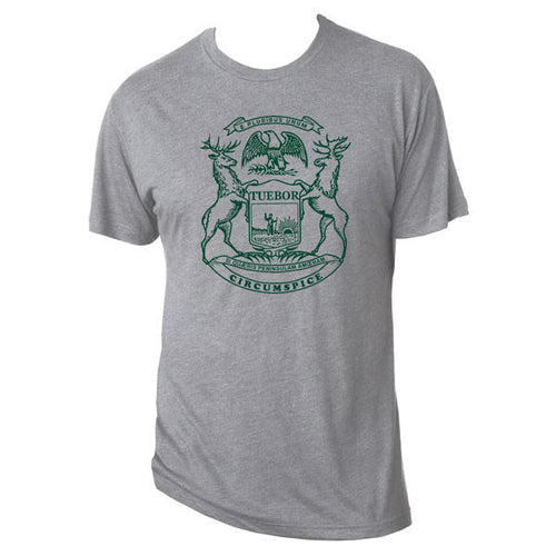 Michigan State Flag - Premium Heather