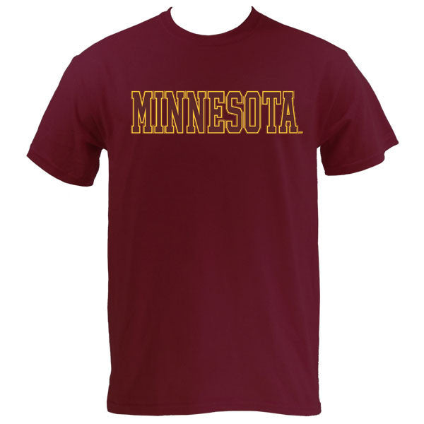Minnesota Basic MVS Short Sleeve - Maroon