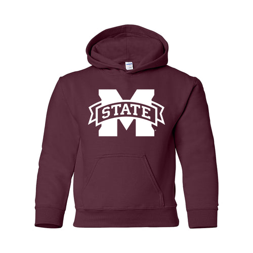 Mississippi State University Bulldogs M-State Logo Youth Hoodie - Maroon