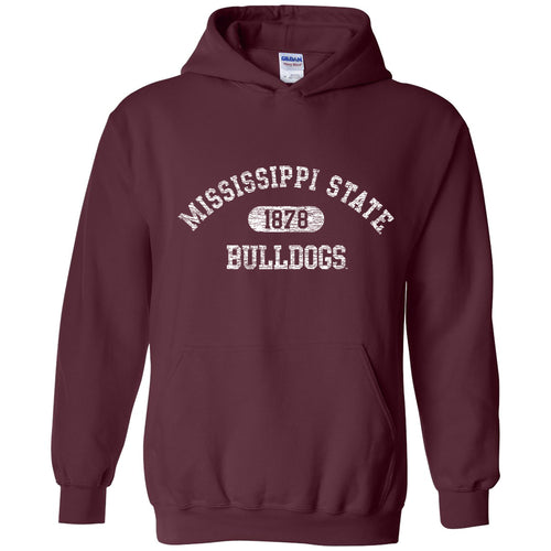 Athletic Arch Mississippi State Bulldogs Heavy Blend Hoodie - Maroon