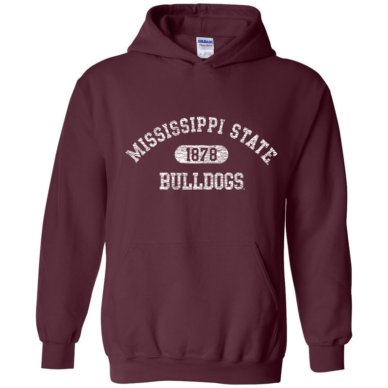 Mississippi State University Bulldogs Athletic Arch Heavy Blend Hoodie - Maroon