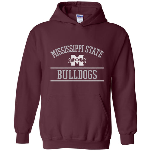 Mississippi State University Bulldogs Mesh Arch Hoodie - Maroon