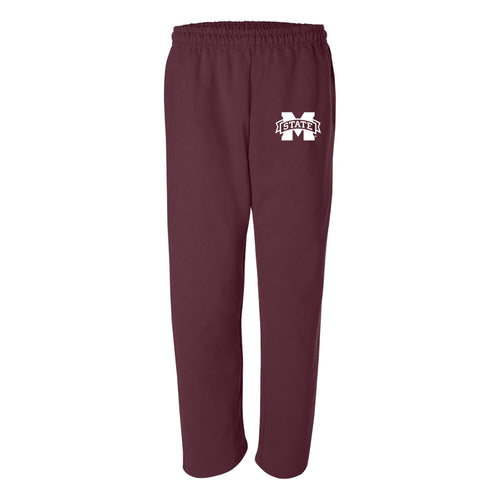 Mississippi State University Bulldogs M-State Logo Sweatpants - Maroon