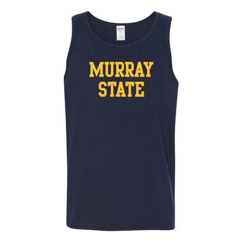 Murray State University Racers Basic Block Tank Top - Navy