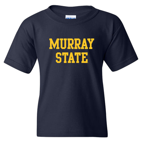 Murray State University Racers Basic Block Youth Short Sleeve T Shirt - Navy