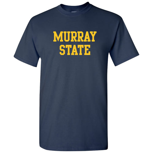 Murray State University Racers Basic Block Short Sleeve T Shirt - Navy