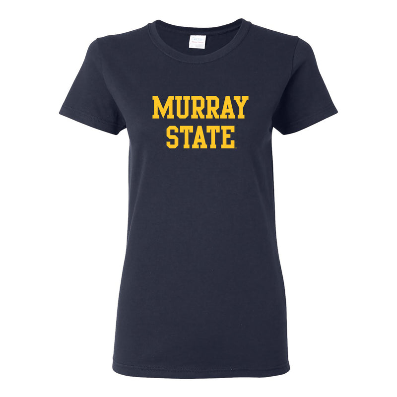 Murray State University Racers Basic Block Womens Short Sleeve T Shirt - Navy