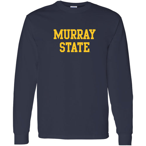 Murray State University Racers Basic Block Long Sleeve T-Shirt - Navy