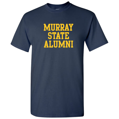 Murray State University Racers Alumni Basic Block Short Sleeve T Shirt - Navy