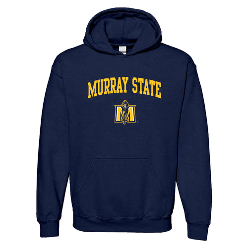 Murray State University Racers Arch Logo Heavy Blend Hoodie - Navy