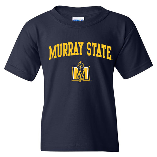Murray State University Racers Arch Logo Youth Short Sleeve T Shirt - Navy