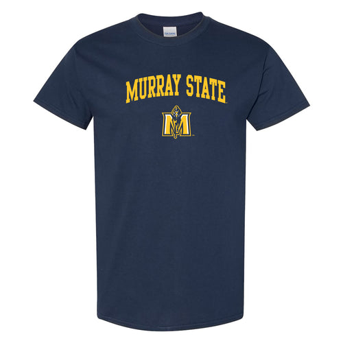 Murray State University Racers Arch Logo Short Sleeve T Shirt - Navy