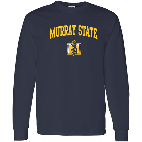 Murray State University Racers Arch Logo Long Sleeve T-Shirt - Navy