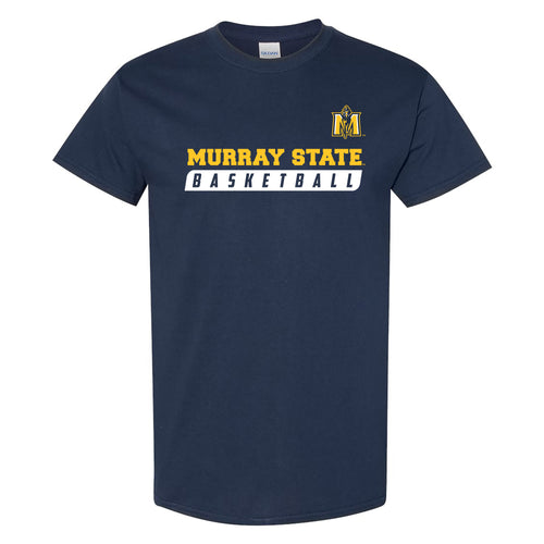 Murray State University Racers Basketball Slant Short Sleeve T Shirt - Navy
