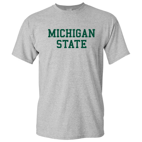 Michigan State University Spartans Basic Block Short Sleeve Tee - Sport Grey