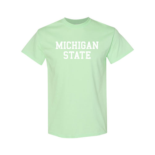 Michigan State University Spartans Basic Block Short Sleeve T Shirt - Mint